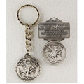 St. Michael Key Ring & Visor Clip Set