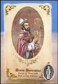 St Servatius (Foot / Leg Ailments) Healing Holy Card with Medal