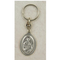 St. Francis Key Ring, Silver Oxidized