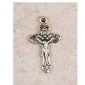 "Sterling Silver Crucifix with 13"" Chain & Box l9103bt"