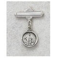 Sterling Silver Guardian Angel Baby Pin, Boxed