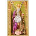 St. Augustine Pewter Medal and Holy Card