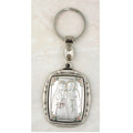 Sterling Silver Holy Family Figure Key Ring
