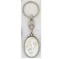 Sterling Silver Holy Family Key Ring