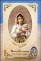 St Germaine (Disabled Persons) Healing Holy Card with Medal