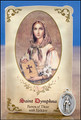 St Dymphna (Epilepsy) Healing Holy Card with Medal