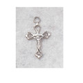 "Sterling Silver Crucifix with 13"" Chain & Box"