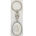 Sterling Silver Holy Family Key Ring cgb133-33