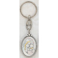 Sterling Silver Mother and Child Key Ring