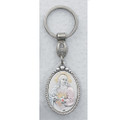 Sterling Silver Sacred Heart of Jesus Key Ring
