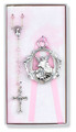 Pink Rosary Crib Medal