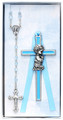 Boy's Cross & Rosary Set