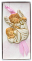 Pink Guardian Angel Crib Medal