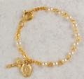 "5-1/2"" Gold Pearl Bracelet"