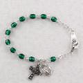 "5-1/2"" Emerald Baby Bracelet"