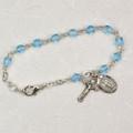 "5-1/2"" Aqua Baby Bracelet"