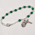 "5-1/2"" Sterling Silver Emerald Baby Bracelet"