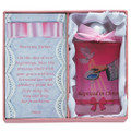 Pink Baptism Water Bottle W/Dove