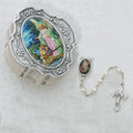 Guardian Angel Classic Pearl Rosary W/Box