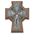 5 1/2 Inch Walnut Celtic Crucifix