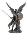 Archangel Raphael, Lightly Hand-Painted, Cold-Cast Bronze,