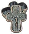 Modern Crucifixion box in cold cast bronze