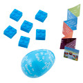 He is Risen Easter Egg with Building Blocks - Blue