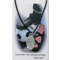 "Boys Soccer Medal on 24"" Black Leather Cord"