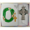 Celtic Crib Cross and Rosary