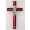 Cherry with Silver Girl Cross 6""