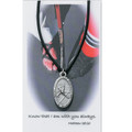 "Boys Hockey Medal on 24"" Black Leather Cord"