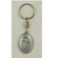 Divine Mercy Key Ring, Silver Oxidized