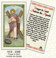 Prayer to Saint Andrew the Apostle cgb9-236