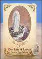 Our Lady of Lourdes / St Bernadette (General Illness) Healing Holy Card with Medal