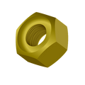 "1-3/4""-5 Grade-8 Hex Nut Zinc Yellow"