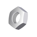 "1/4""-28 FINISHED HEX JAM NUT ZINC"