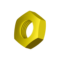 "1""-14 FINISHED HEX JAM NUT ZINC-YELLOW"