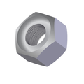 "1/4""-28 GR.5 HEX NUT ZINC CR+3"