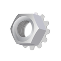 "1/4""-28 HEX LOCKNUT EXTERNAL TOOTH KEPS ZINC"