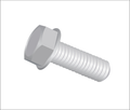 "1/4""-20 x 2"" (Ft) Machine Screw Unslotted Hex Indented Washer Head Zinc"