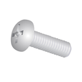"#4-40 x 1/4"" (Ft) Machine Screw Pan Head Phillips Zinc"