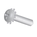 "#8-32 x 1/2"" Machine Screw Pan Head Phillips W/ External Tooth Lockwasher"