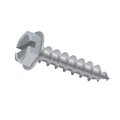 "#14-10 x 3"" Indent Hex Washer Head Sloted Type-A,Tapping (Sheet Metal) Screw Zinc"
