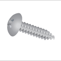 "#6-20 x 3/8"" Phillips Truss Head Type-Ab,Tapping (Sheet Metal) Screw Zinc"