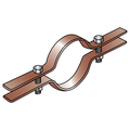 "5"" RISER CLAMP COPPER TUBING"