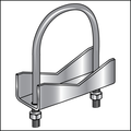 "1-1/4"" RIGHT ANGLE CLAMP GALVANIZED"