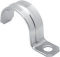 "1"" ONE HOLE PIPE STRAPS STAINLESS STEEL IPS"