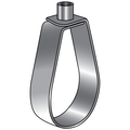 "4"" ""EM-LOK"" ADJUSTABLE SWIVEL RING HANGER, GALVANIZED, 1/2 ROD"