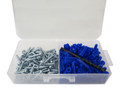 "1/4"" Conical Plastic Anchor Kits (1"" Screw)"