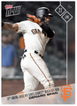 2017 Topps Now #302 14TH-INN BASE HIT GIVE GIANTS WIN DENARD SPAN